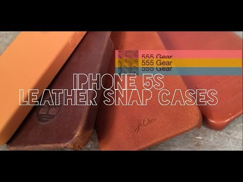 Comparison: iPhone 5S / 5 Brown Leather Snap Cases - Apple, Timberland, J. Crew, Waxhaws