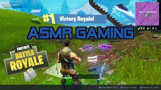 ASMR Gaming | My 1st Solo Victory Royale Win In Fortnite (5th Win) ★Controller Sounds + Whispering☆