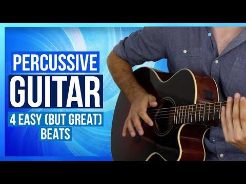 Strum & Drum - 4 Basic Acoustic Beats For Percussive Guitar