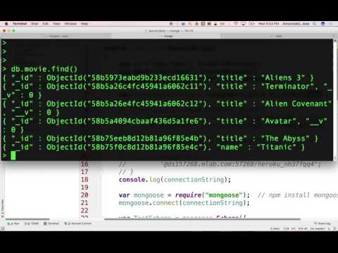 1 intro to mongod and mongo webdev spring 2017 evening 3/1