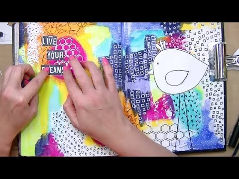 Dina Wakley Media Journal and Heavy Body Acrylic Paints - Mixed Media Art Journal With Me