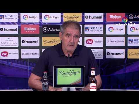 Rueda de prensa de Paco Herrera tras el Real Valladolid vs Cádiz CF (1-0)