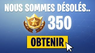 RECOMPENSE FOR THE BUG OF 35 PALIERS ON FORTNITE?