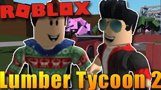 WE'RE FIGHTING TREES! :D | ROBLOX: Lumber Tycoon 2 w/Bozi #2