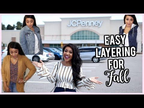 Must Have Layering Pieces for Fall | Shop With Me + Haul | JCPenney!!