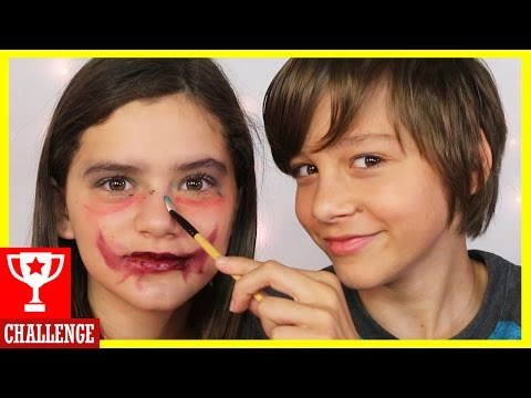 MY BROTHER DOES MY MAKEUP CHALLENGE!   |  KITTIESMAMA