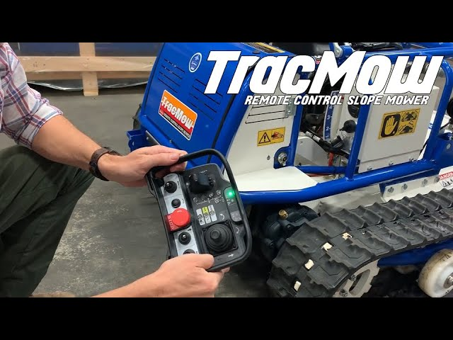 How to start TracMow using the Remote Control