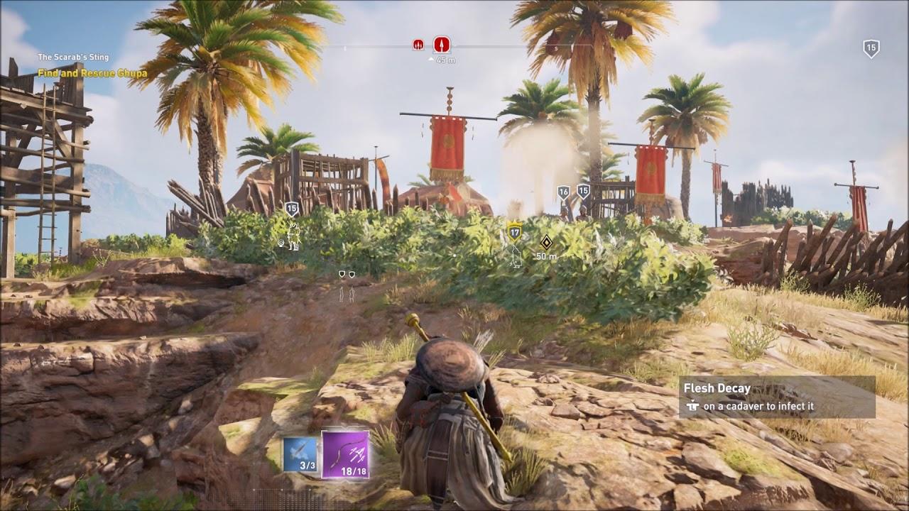 Assassin's Creed Origins Use Sleep On Enemy
