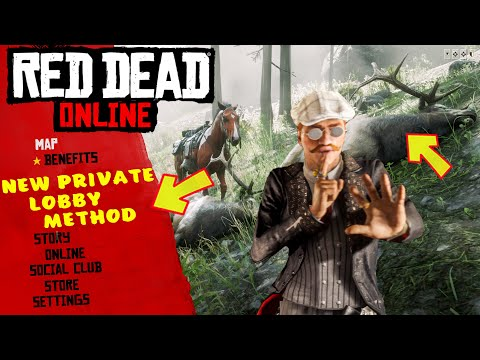 RED DEAD ONLINE SOLO LOBBY METHOD - INVITE ONLY - FRIEND NEEDED