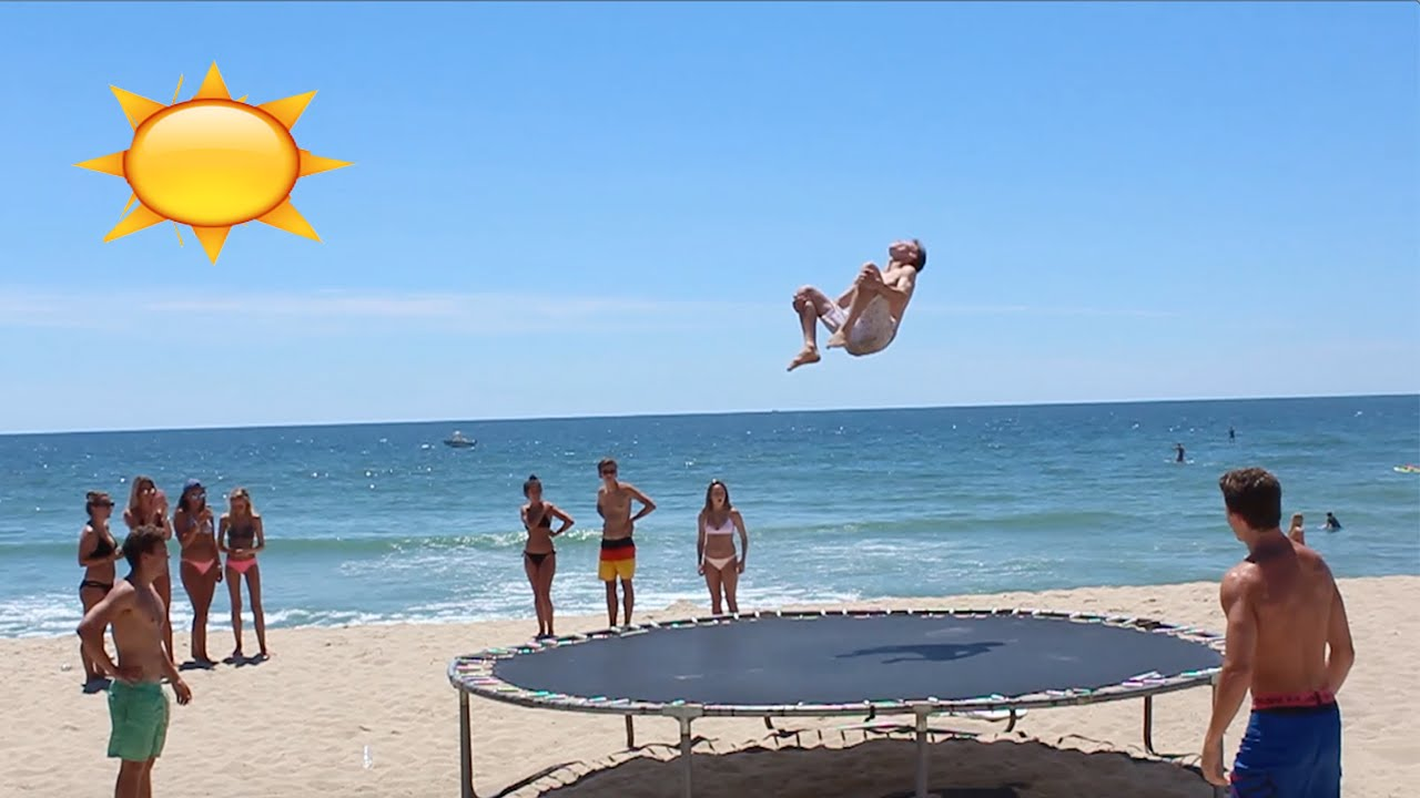 Brought The Trampoline To Beach