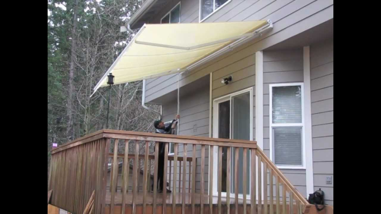 aleko patio awning youtube