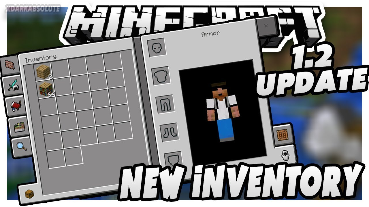 NEW INVENTORY/CRAFTING MENU!! - MCPE 1 2 Update Review #BetterTogether  (Pocket Edition) Part 1