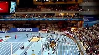 E. Ptak, M. Hołub, P. Wyciszkiewicz, J. Święty (sztafeta 4x400 m) - IAAF WIC Sopot 2014