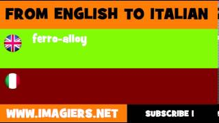 How to say ferro alloy in Italian