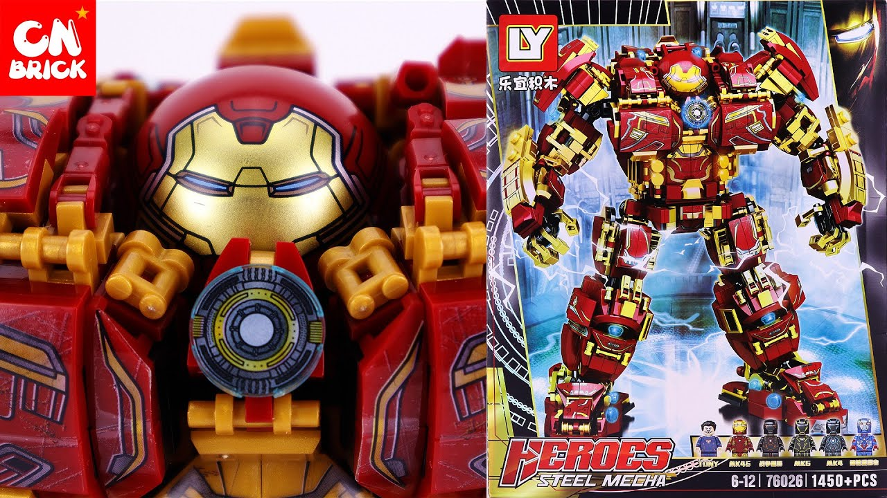 LEGO HULKBUSTER 1450 PCS.  (SPEED BUILD IN 10 MINUTE ) LY76026 Unofficial lego lego videos