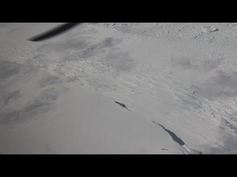First Video of Antarctica's Massive Larsen C Iceberg