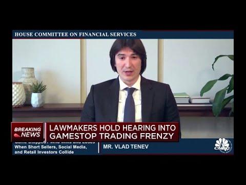 CEO Vlad Tenev at GameStop hearing: Two percent of Robinhood customers borrow at margin