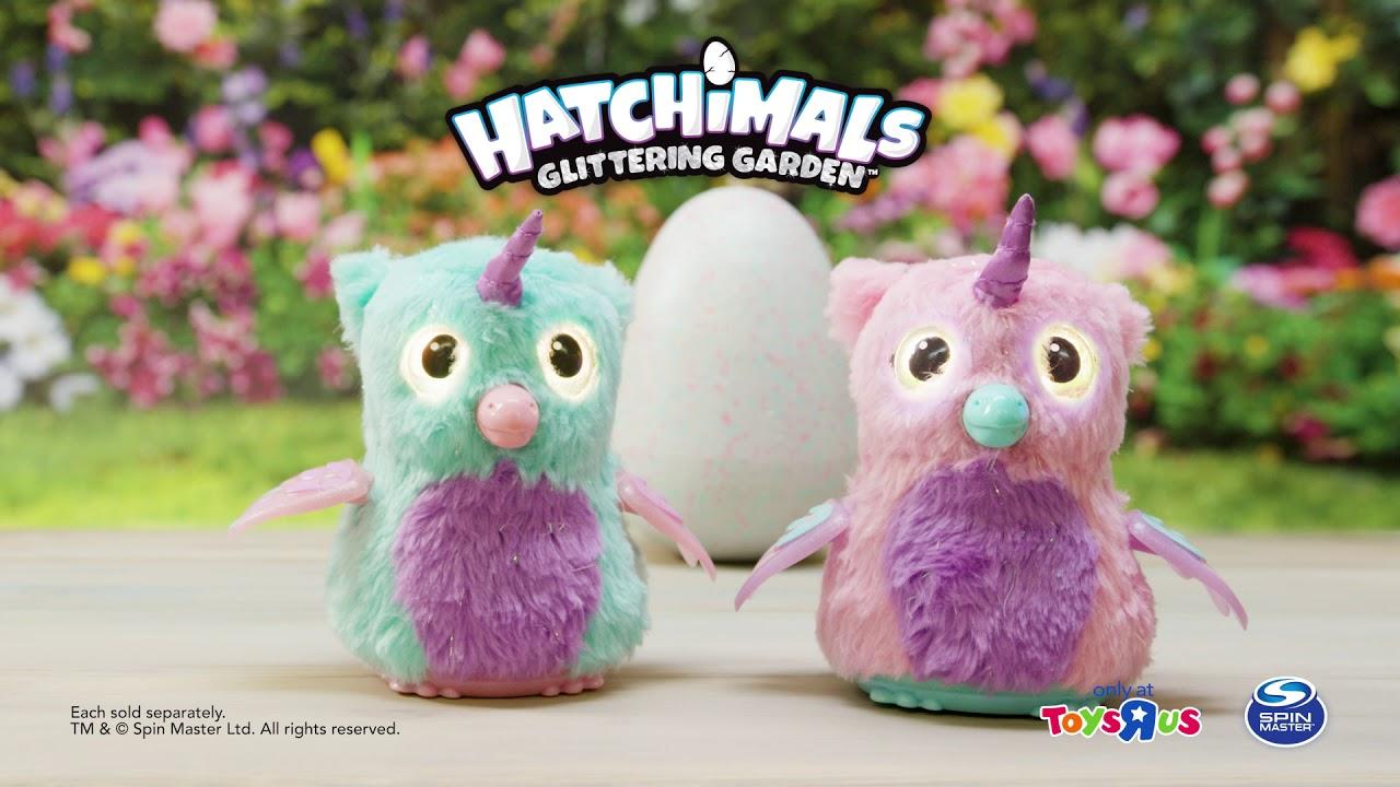 hatchimals glittering garden exclusives owlicorn youtube
