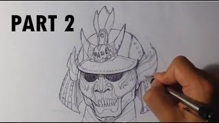 Draw a Samurai Helmet - Part 2/2 - Draw Fantasy Art