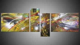 Abstract acrylic painting Demo HD Video - Wike by John Beckley