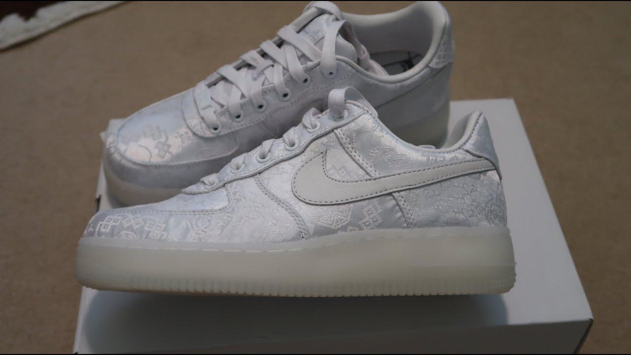 designer fashion b4ac9 e3959 CLOT x Nike Air Force 1 Premium Sneaker Unboxing