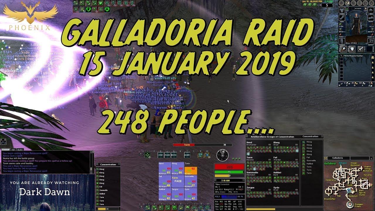 Galladoria Raid - 200 + Players ! Daoc 2019 [Phoenix Server]