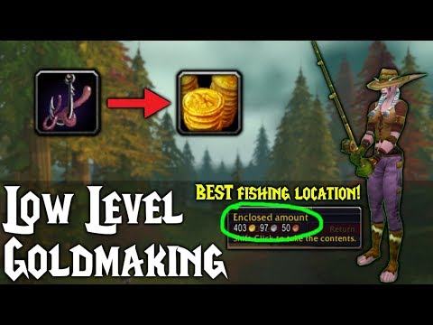 Low Level Gold Making With Fishing! - Classic WoW - Deviate Fishing - Low Level Gold Farming Guide