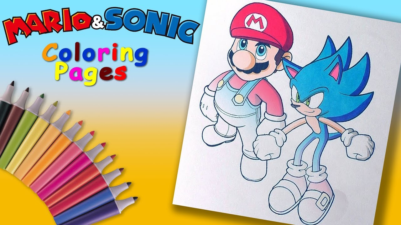 - Mario & #Sonic Coloring Page #forKids Best Game Characters
