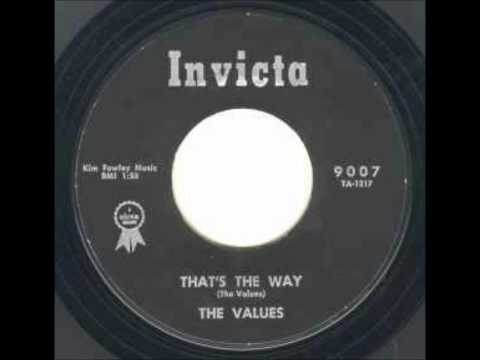 VALUES - THATS THE WAY / Return To Me - INVICTA 9007 - 1961
