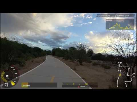 My Big 150 Mile Bicycle Ride in Beautiful Phoenix Desert Area, Garmin VIRB XE