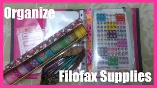 How to organize your Filofax/planner supplies (cheap and easy method)