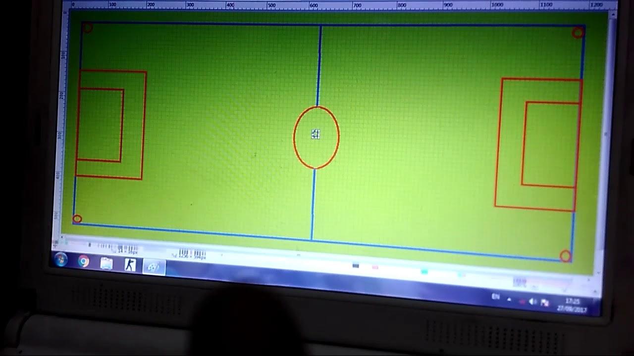 Cara Membuat Lukisan Lapangan Bola Youtube