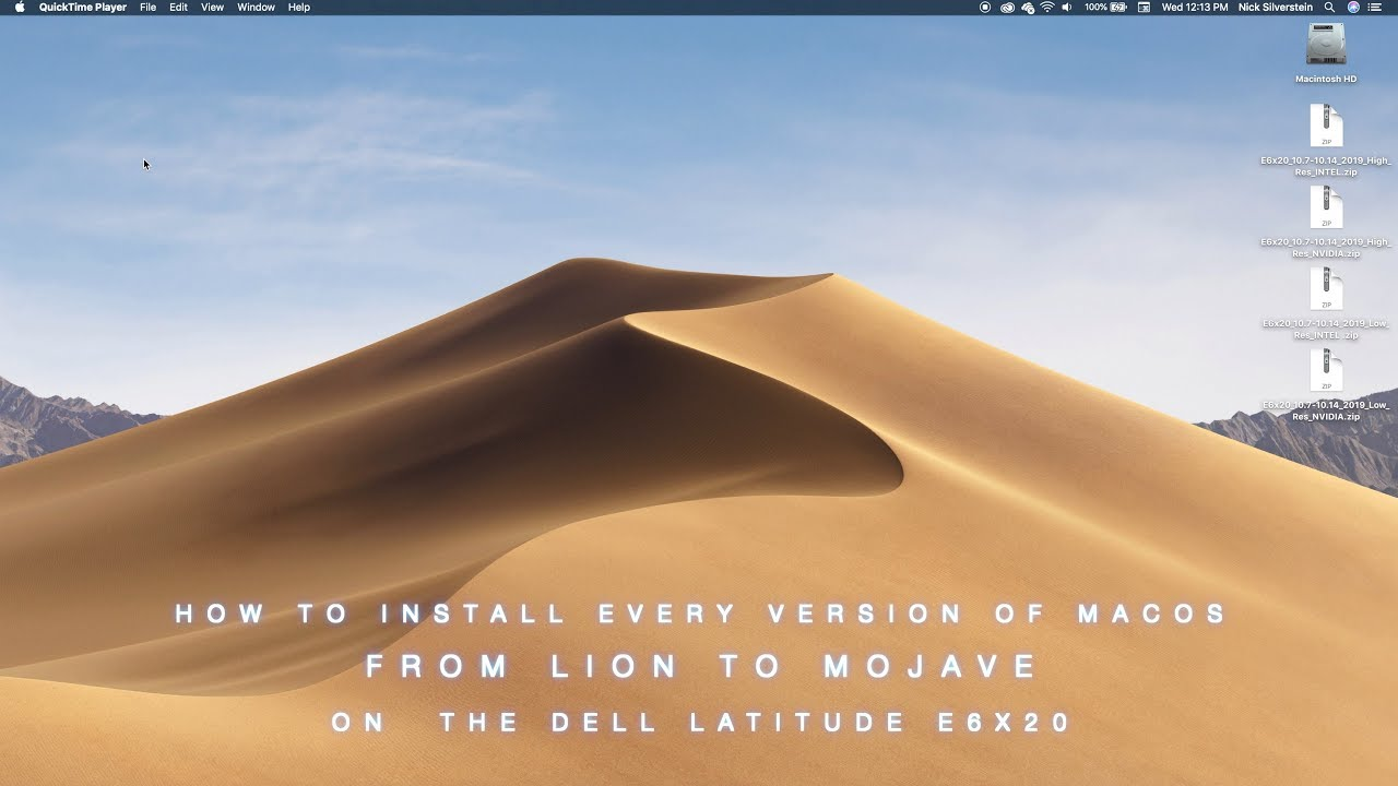 How to Install Every Version of macOS from Lion to Mojave on the Dell  Latitude E6x20