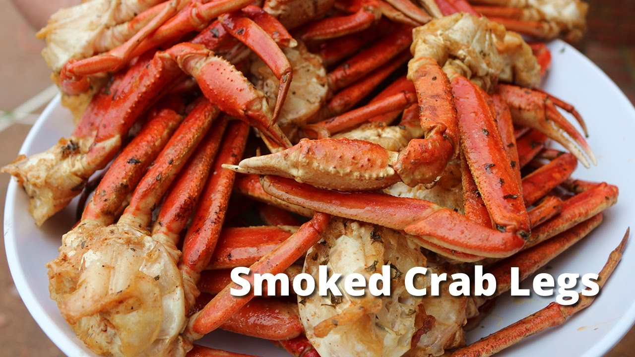 Smoked Crab Legs Recipe | How to Smoke Snow Crab Legs on Ole Hickory Pit - YouTube