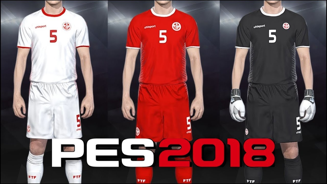 12ec3b0a8 PES 2018 - kits Tunisia World Cup (18-19) PS4