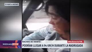 Punta Arenas: Impresionantes rachas de viento derribaron el acoplado de un camión