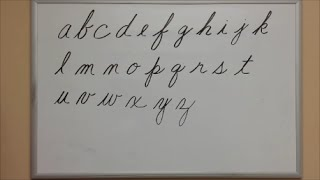How to Write Cursive Lowercase Letters