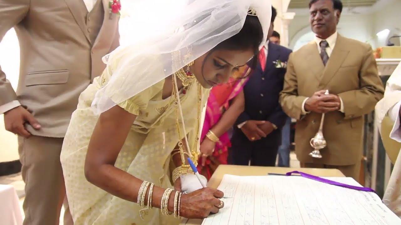 Bangalore Indian Christian Wedding At St Patrick Church Youtube