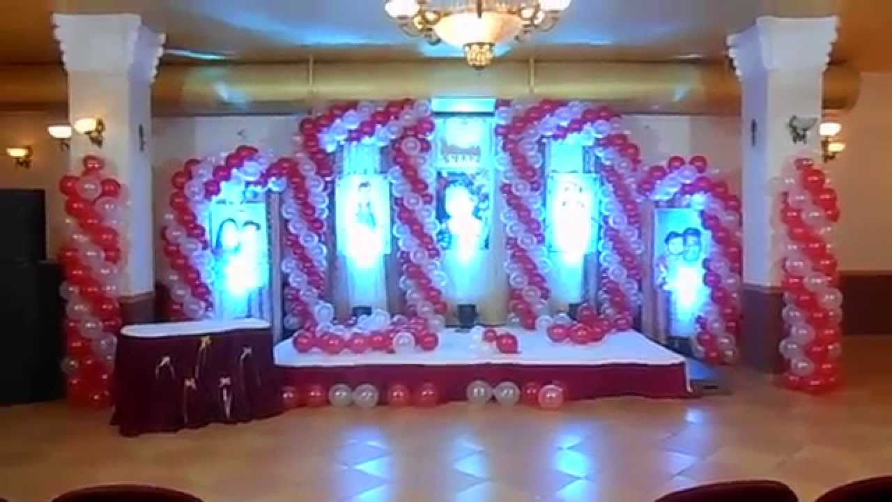 Balloon decoration for birthday party in hyderabad ph for Balloon decoration ideas youtube