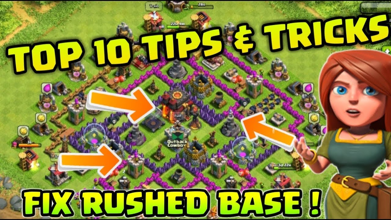 Top 10 Tips & Tricks To MAX Rushed Base in Clash of Clans !