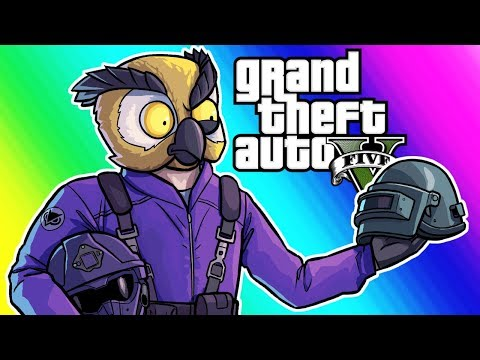 GTA 5 Online Funny Moments - Totally Not PlayerUnknown's Battlegrounds (Motor Wars)