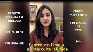 UFPR-CELIN - CURSO GRATUITO DE ESPERANTO