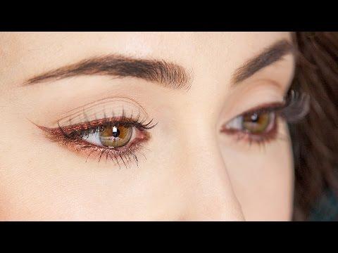 Mit Kajal Augen Optisch Formen