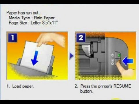 Printer - canon printer - paper has run out / paper not detected - [solved]