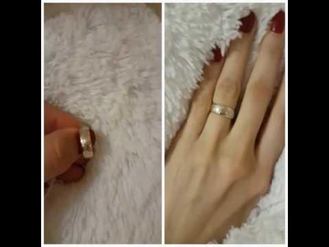 Мужское обручальное кольцо  из 18 каратного золота | AliExpress