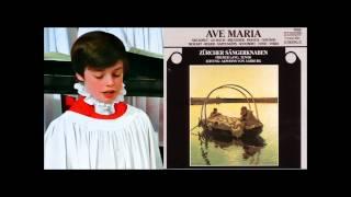 Daniel Perret boy (soprano) sings Ave Maria Bach Gounod ~1995