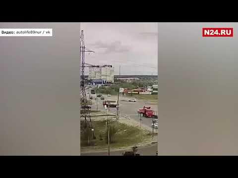 В Сети появилось видео момента аварии с участием высокопоставленного силовика из Нового Уренгоя