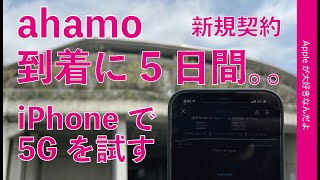 SIM到着まで5日間。。ドコモの新プラン「ahamo」をiPhoneの5Gで試す・初日に新規で申し込んでみましたよ