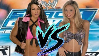 WWE HCTP Victoria vs Stacy Keibler Bra And Panties Match
