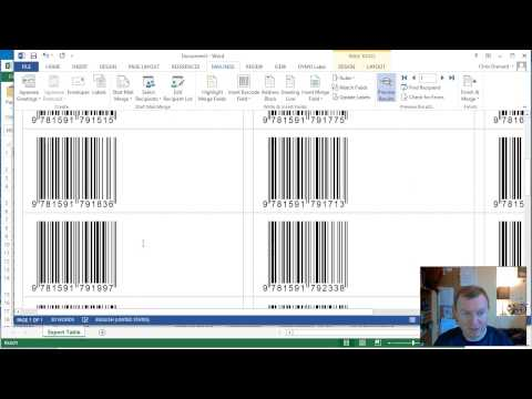 How to create ISBN-13 Barcodes in Microsoft Word 2013